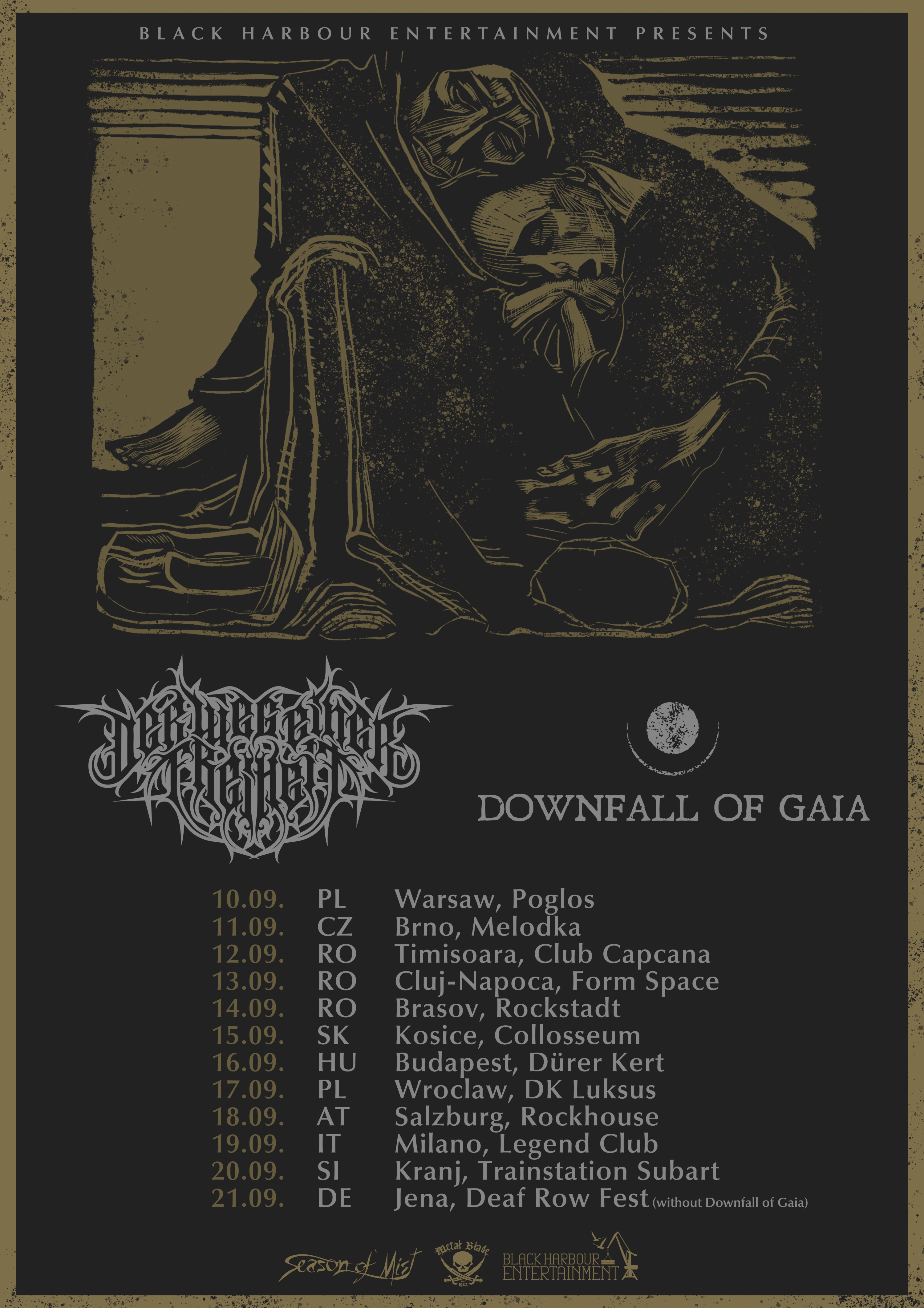 New Tour Dates with Downfall of Gaia – DER WEG EINER FREIHEIT